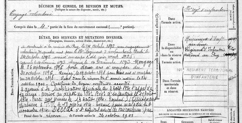 BARRET Pierre, fiche matricule (2)