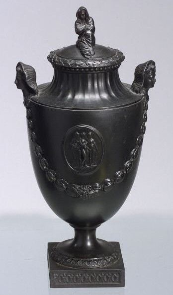 From A Neoclassical Vase And About 18th Century Wedgwood Black