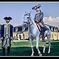 Rochefort, la fayette le voici avec un écuyer de l'histoire (reconstitution historique)