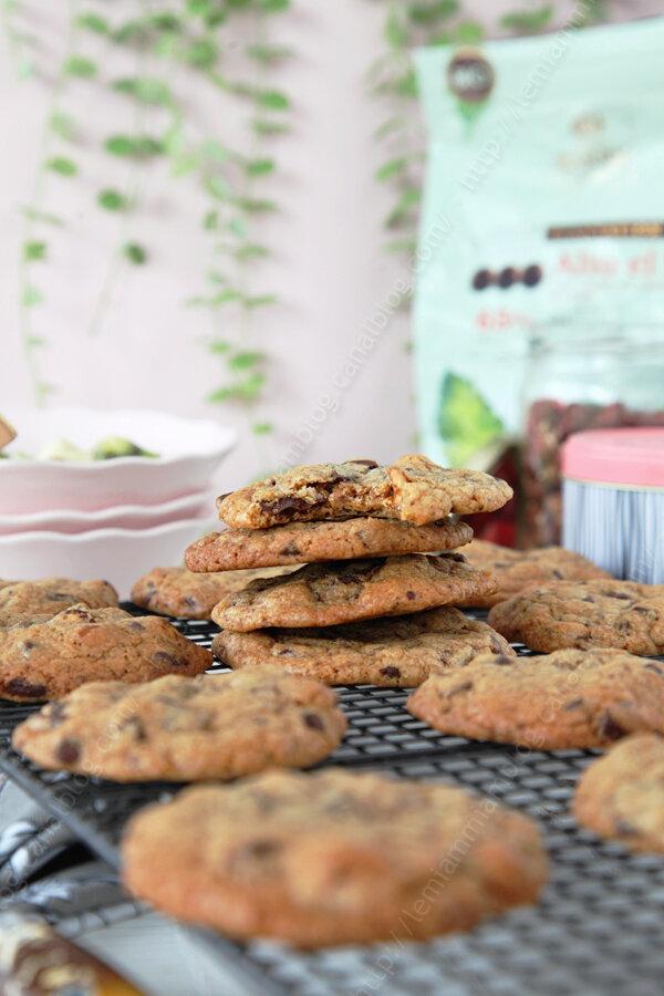 La recette des cookies au chocolat noir et aux noisettes de Hélène Darroze (challenge cookies #5)