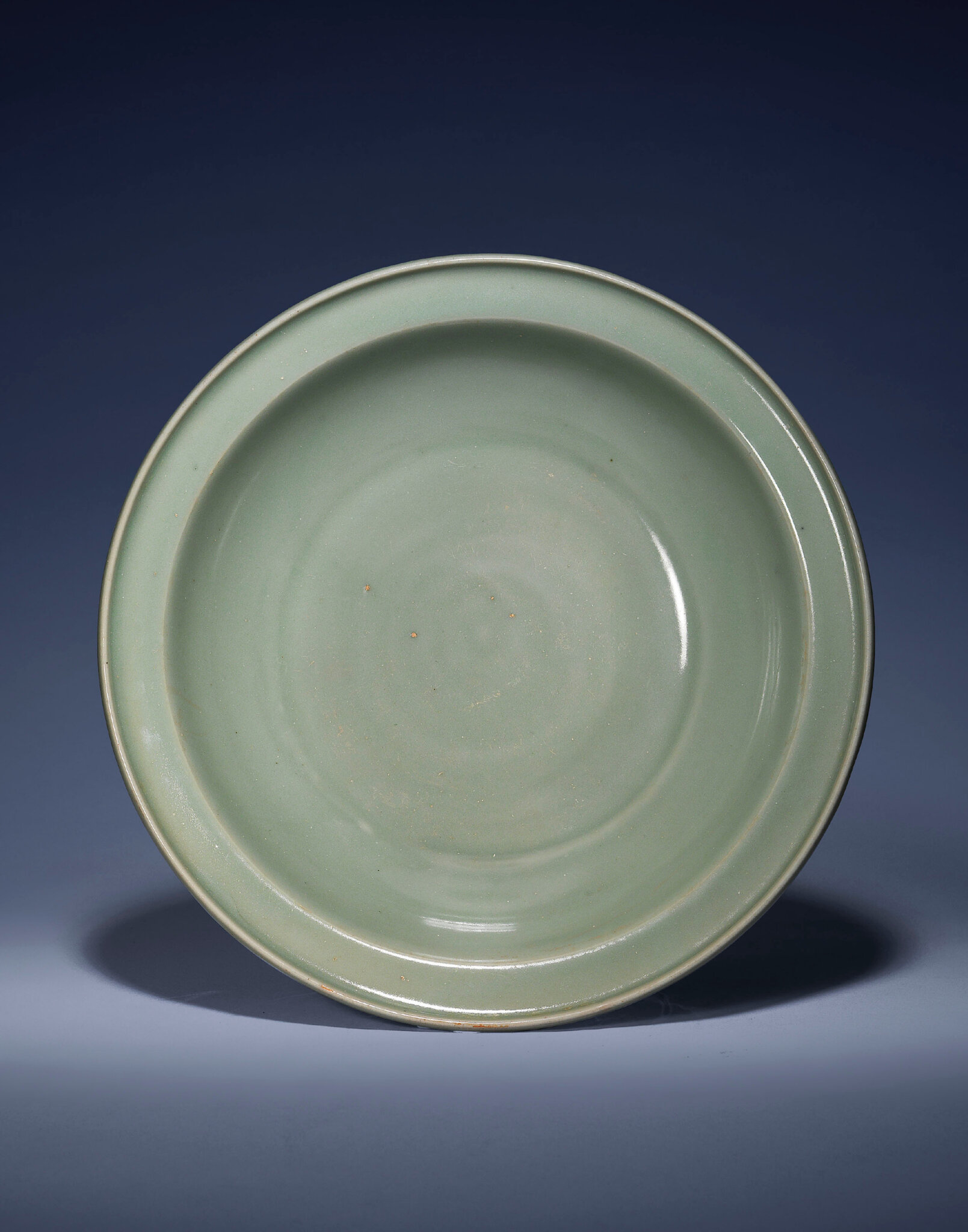 A rare large Longquan celadon basin, Southern Song dynasty (1127-1279)