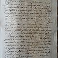 MANUSCRIT 1698 DU SIECLE DES LUMIERES