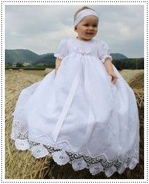 464dc4a6713ec Robe de Bapteme garçon blanche manches longues droites - Mamy ...