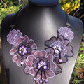 Collier broderie fimo
