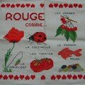 Broderie : rouge comme...