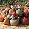 Module technique de poterie africaine en avril et cuisson en août