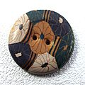 Boutons inspirés d'un motif de tissu japonnais.