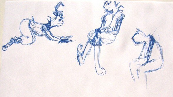 croquis chat 2