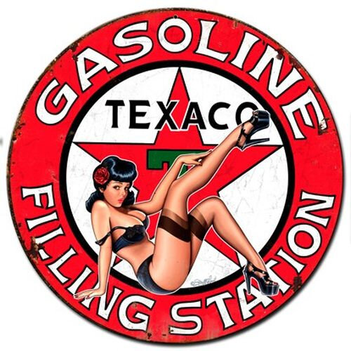 plaque-pub-texaco-pin-up