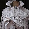 Ciré en coton enduit beige imprimé additions et menus - TU (4)
