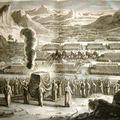 Gravure d'illustration - Le peuple Hébreu dans la traversée du
