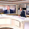 Bruno le maire invité de laurent delahousse au jt de 20h de france 2... et autres interventions