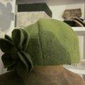 Chapeau AGATHE en laine bouillie vert pistache (3)