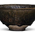 A rare large 'Jian' 'Hare's Fur' bowl, Song dynasty (960–1279)
