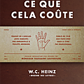 Heinz wilfred. charles / ce que cela coûte.