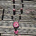 Sautoir rose/rouge