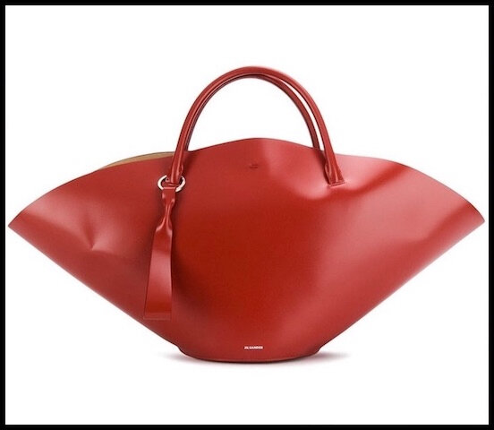 jil sander sac sombrero rouge