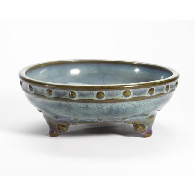 A Rare Imperial Numbered Jun' Narcissus Bowl, Early Ming Dynasty