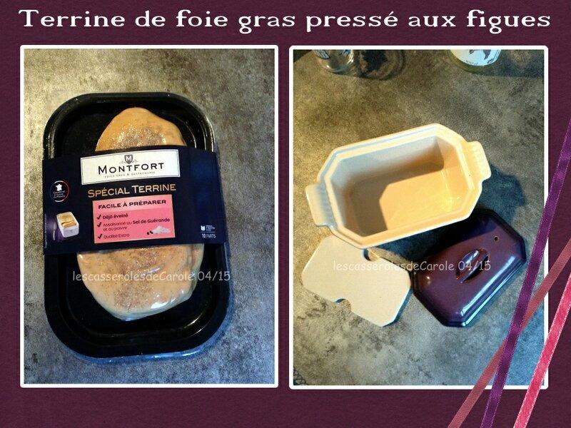 terrine de foie gras pressé aux figues par étape 1