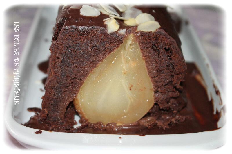 Cake choc-poires 16
