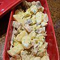 salade aux 2 pommes et harengs fumés