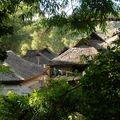 Village de Zhanlan dans les montagnes de Xiding