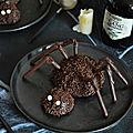 Araignées au chocolat #halloween #vegan