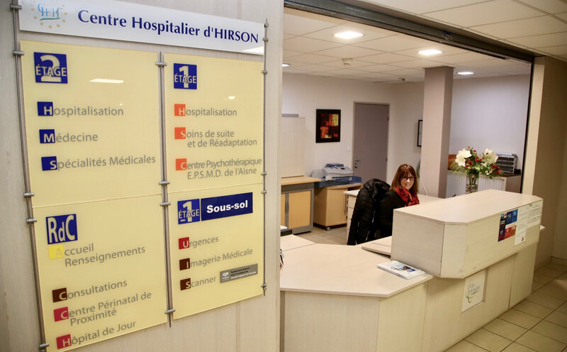 CENTRE HOSPITALIER HIRSON 2020 ACCUEIL panneaux