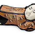 A Cizhou 'Lady' pillow, Jin dynasty (1115-1234)