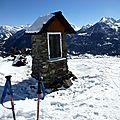 2 oratoires sur la piste de ski...(briançon-serre-chevalier)