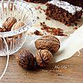 Bonne annee 2014 !!!! ... et le fondant choco-châtaigne-noix sans gluten