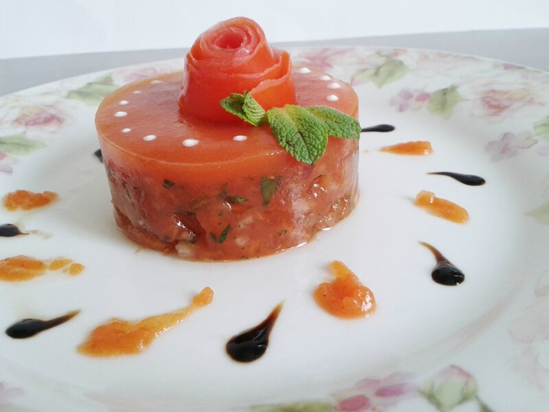 Tartare de tomates ( du chef custos)
