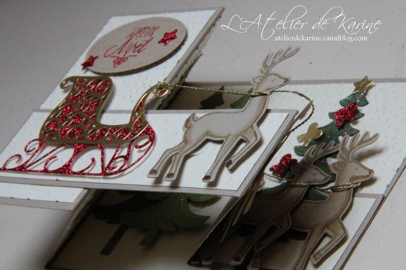 Carte double Z - Traîneau de Noël 1