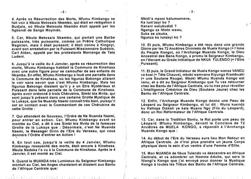 LE SEIGNEUR KIMBANGU APRES SA RESURRECTION DES MORTS Part 1 b
