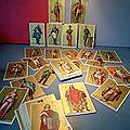 Rentrée des classes, des images scolaires anciennes, début 1900, sur le thème des grands personnages historiques...