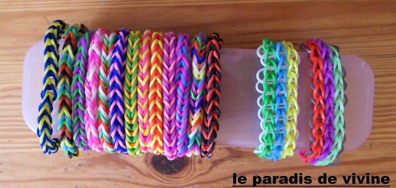 bracelets triple simple rainbow loom et fishtail loom