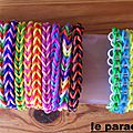 bracelets triple simple rainbow loom et fishtail loom