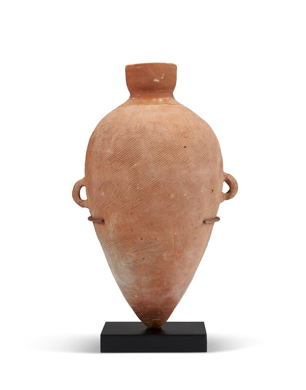 A red pottery ovoid amphora, Neolithic period, Yangshao culture, Southern Shanxi Province, circa 4800-4300 BC