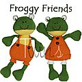 Froggy friends - twins