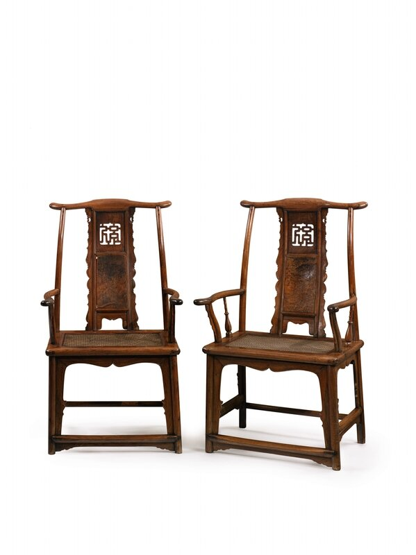 078N09465_8TP7F (Rare and Exceptional Pair of Huanghuali and Huamu 'Fu' Character Yokeback Armchairs)