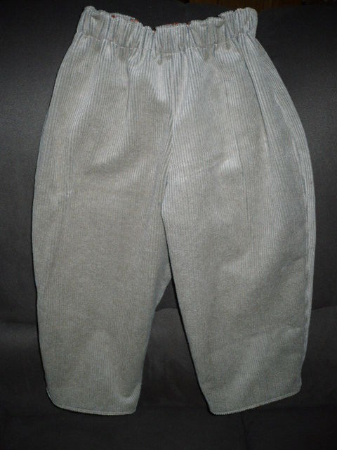 Pantalon velours réversible