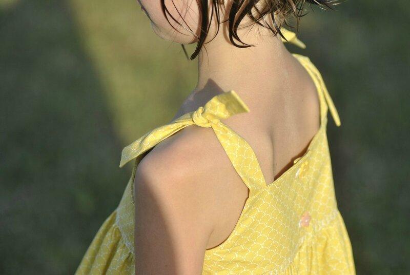 robe rose jaune 3