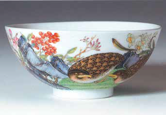 The quail bowls, illustrated in J