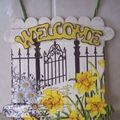 Daffodil gate welcome sign
