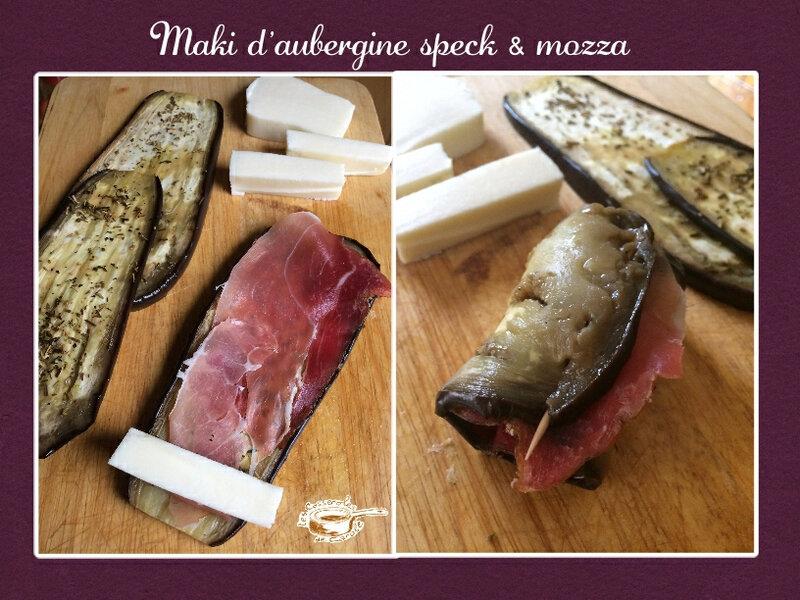 Maki d'aubergine speck mozza (scrap)