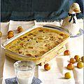 Clafoutis mirabelles & lait d'amande intense