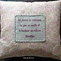 Coussin citation Bouddha