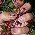 Nail art WD chats coeur cupidon Crocongle