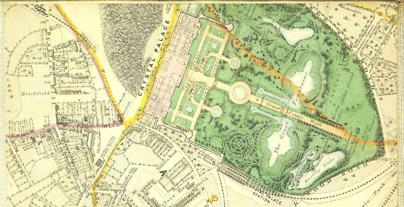 Crystal Palace at London Woodland Hill Plan