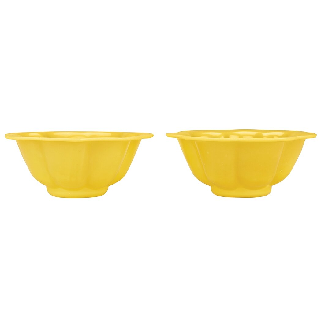 Pair of Chinese Yellow Glass Bowls, 19th Century